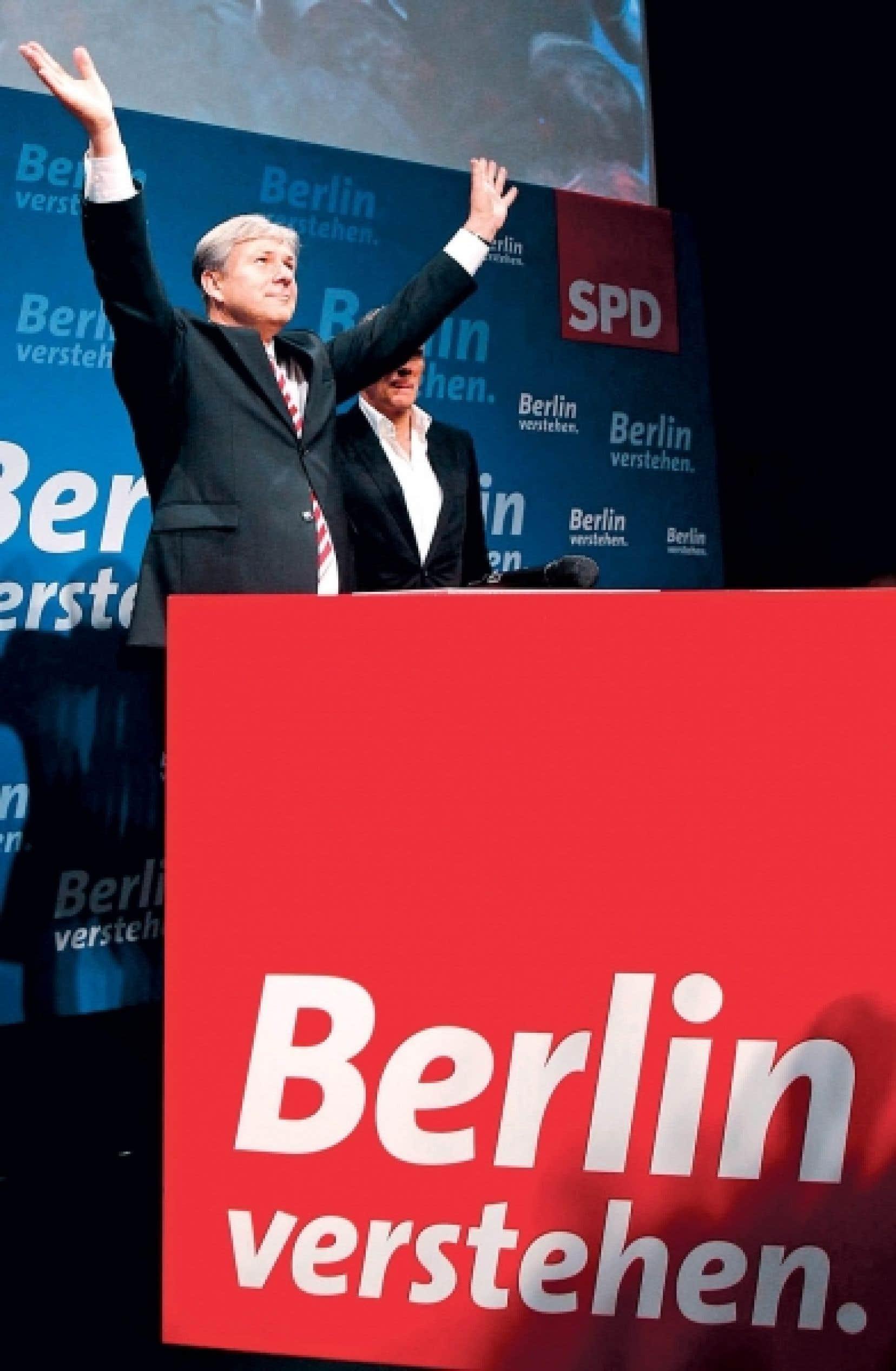 Le maire sortant de Berlin, Klaus Wowereit