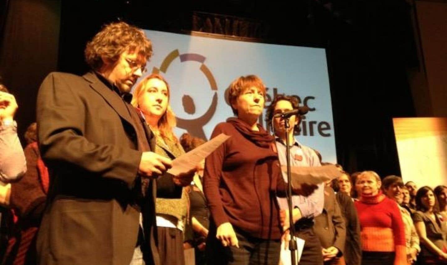Québec solidaire tient cette fin de semaine à Montréal son 8e congrès, pendant lequel les militants sont appelés à adopter la plateforme électorale du parti.