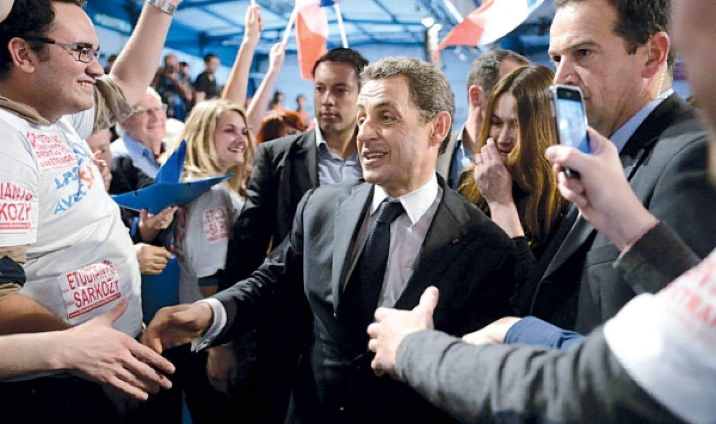 Nicolas Sarkozy, à Toulouse, hier. Une note compromettante jette une ombre sur la fin de sa campagne.