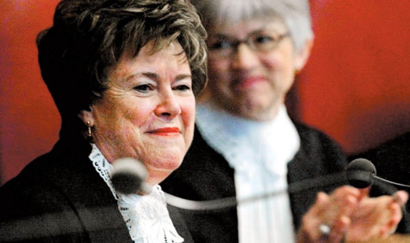 La juge Claire L'Heureux-Dubé, à la Cour suprême du Canada