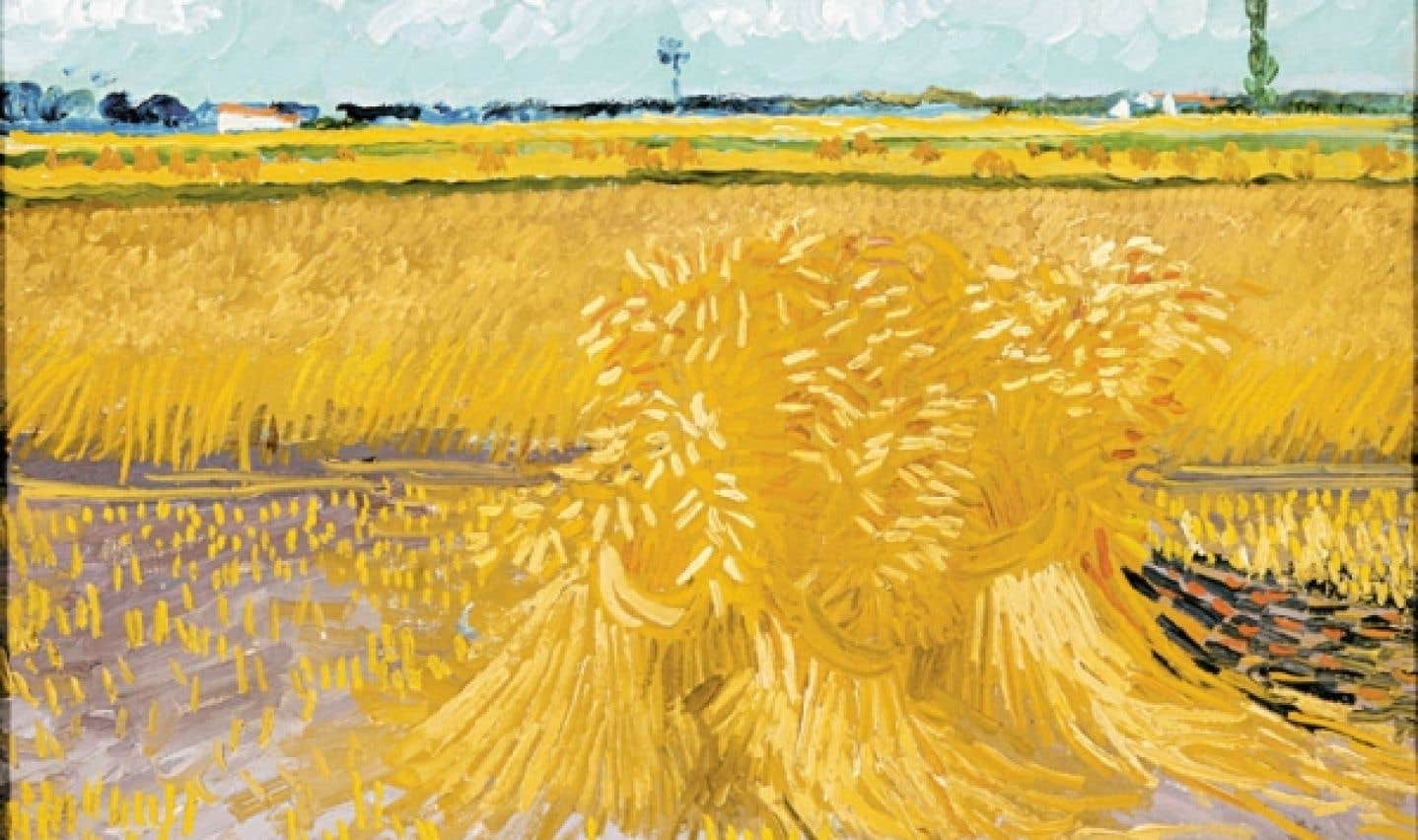 Van Gogh, Champ de blé avec gerbes, 1888