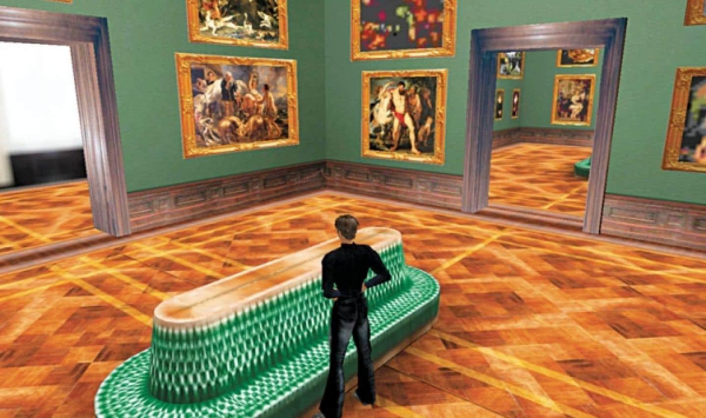 L'univers virtuel de Second Life regorge d'expositions artistiques dans lesquelles les personnes âgées pourraient s'évader.