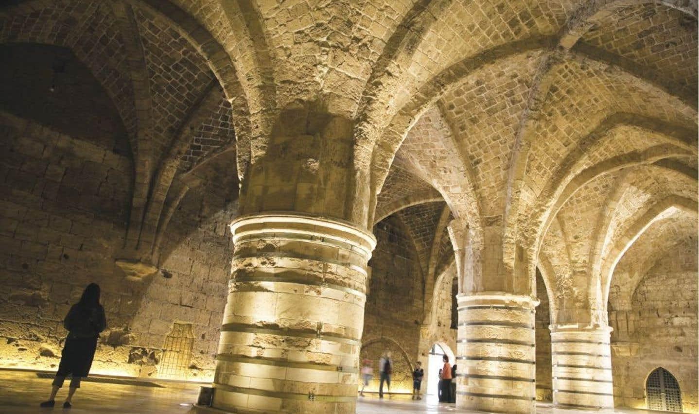 La salle des chevaliers à Saint-Jean d'Acre