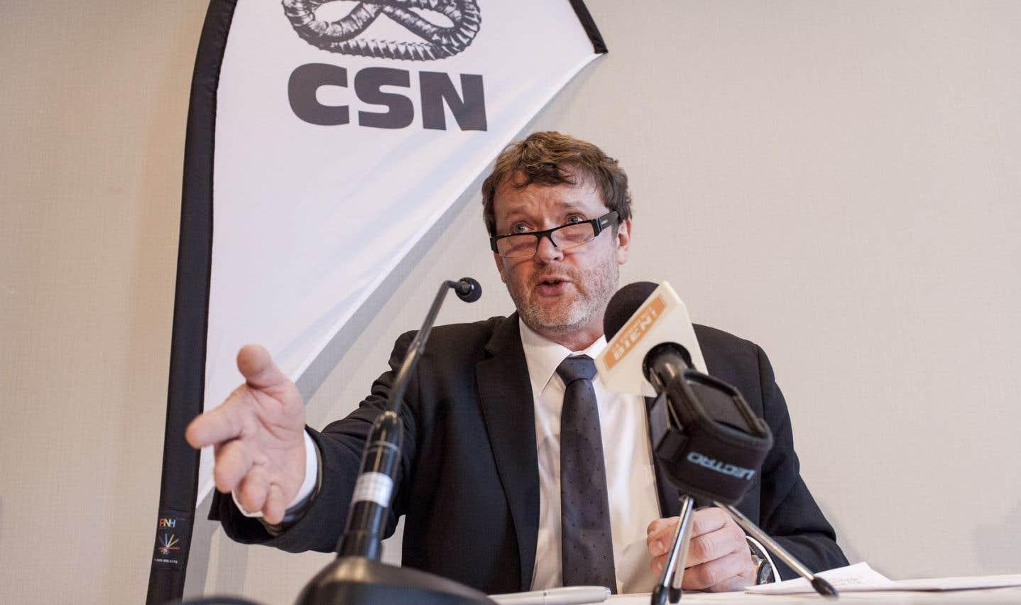 Jacques Létourneau a été élu au poste de président de la CSN en octobre 2012.