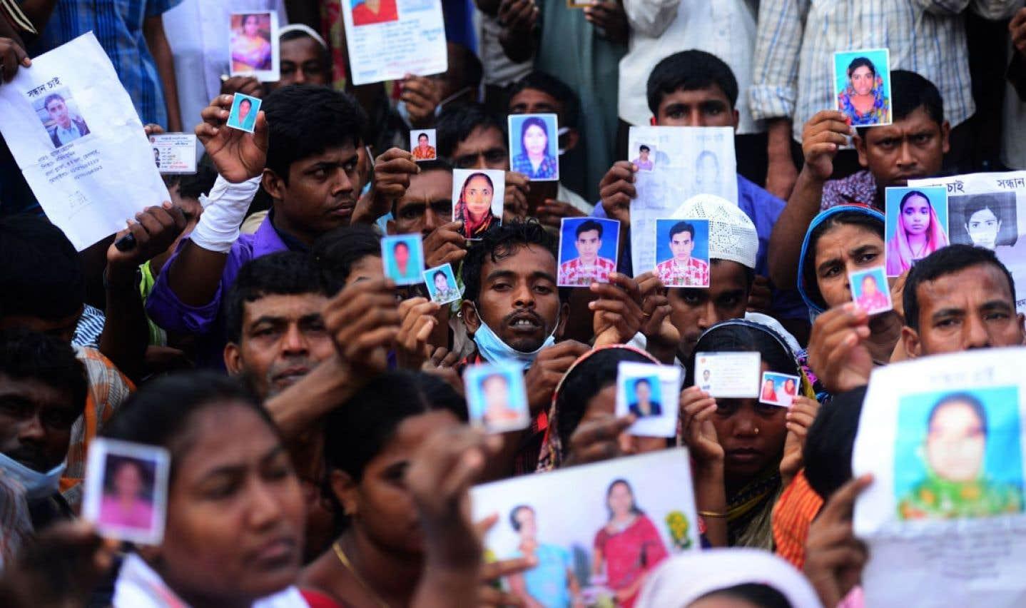 Au Bangladesh, les damnés  de la terre pleurent leurs morts