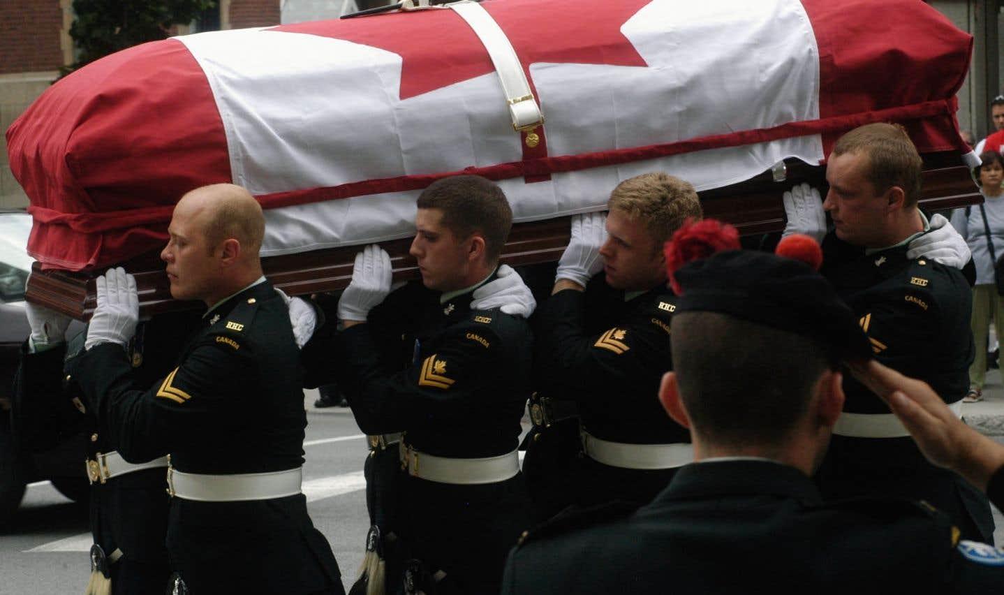 158 soldats canadiens sont morts en Afghanistan.