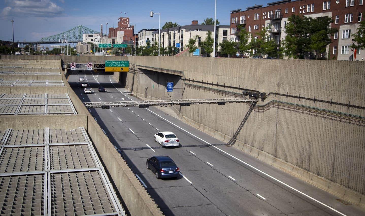 Le tunnel Viger fermé à cause d'une dalle sciée