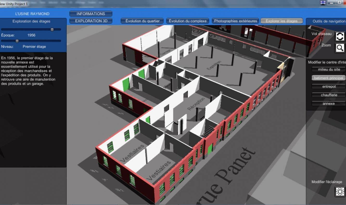 L'environnement 4D proposé par l'Écomusée du fier monde pour modéliser l'usine sise sur la rue Panet se veut novateur.