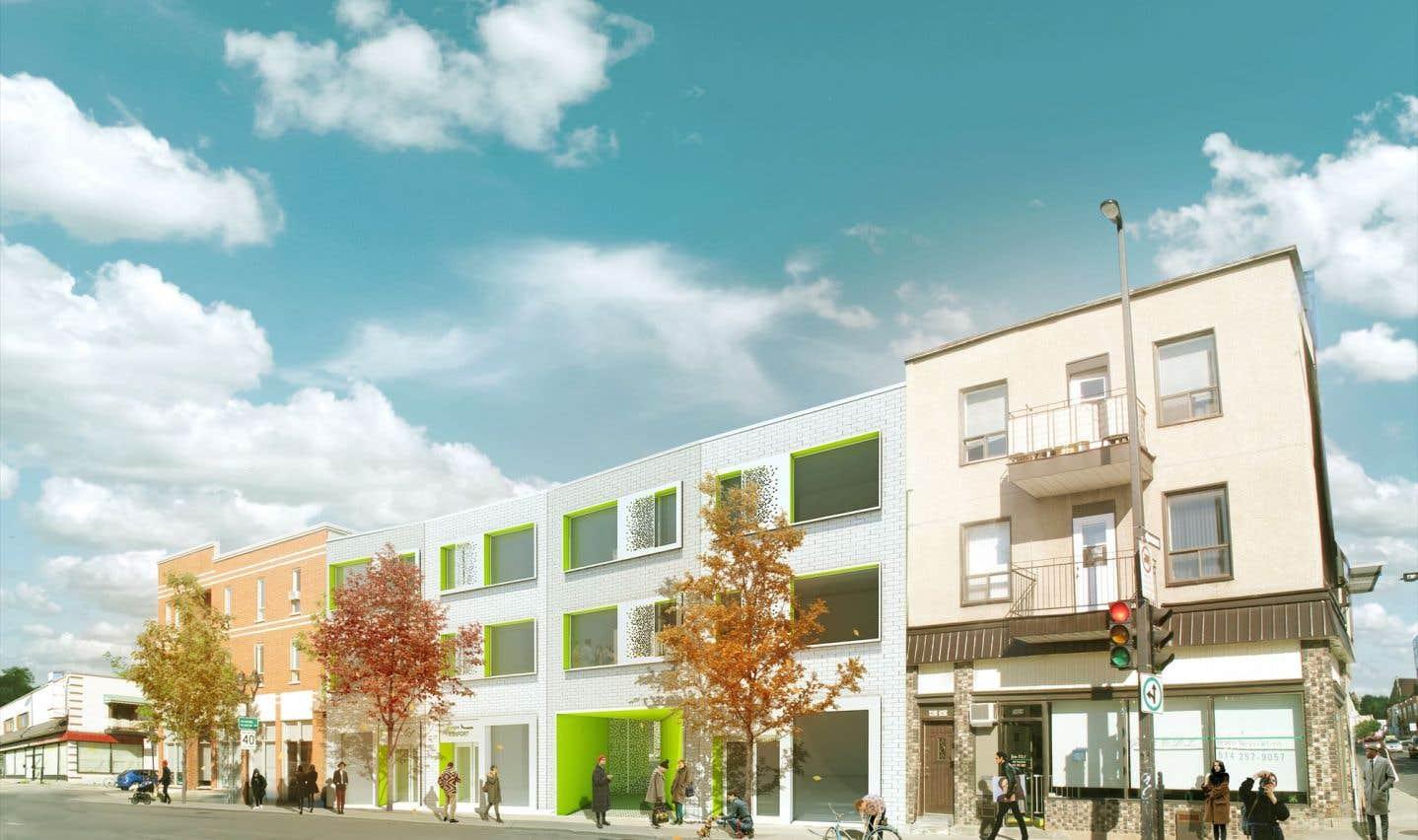 Le projet Les Feuilles aura pignon sur l'avenue du Mont-Royal, à quelques pas de la rue d'Iberville.