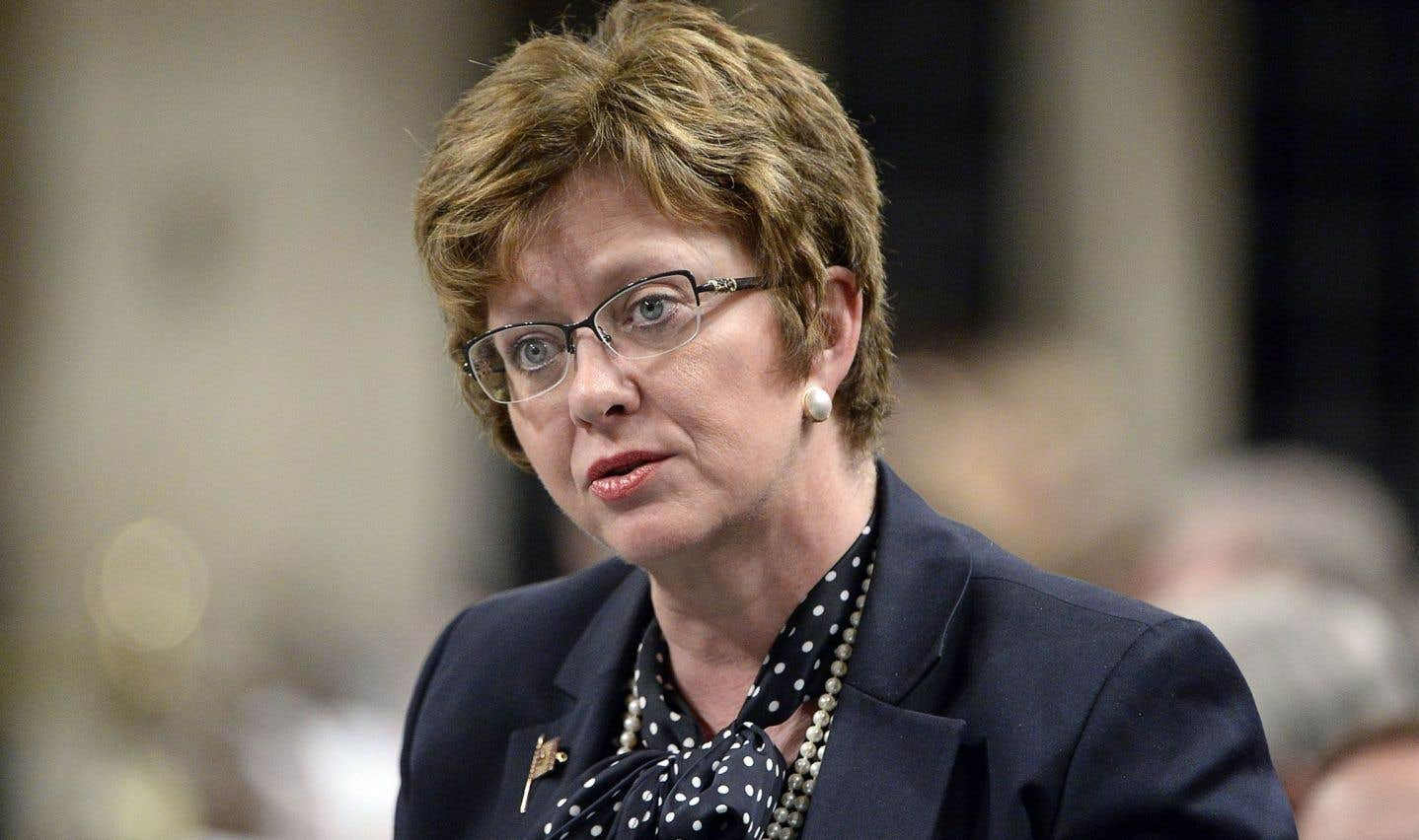 La ministre fédérale des Travaux publics, Diane Finley