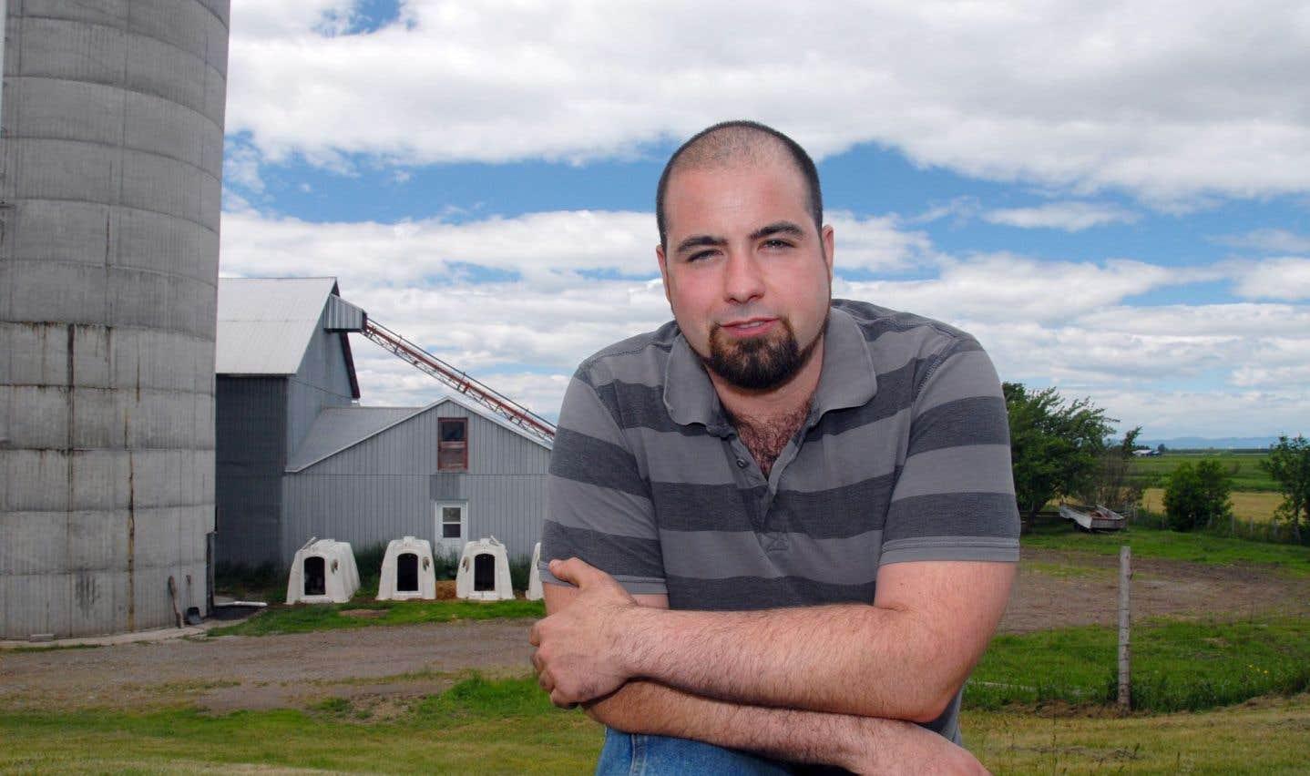 Le président de la Fédération de la relève agricole du Québec (FRAQ), Pascal Hudon