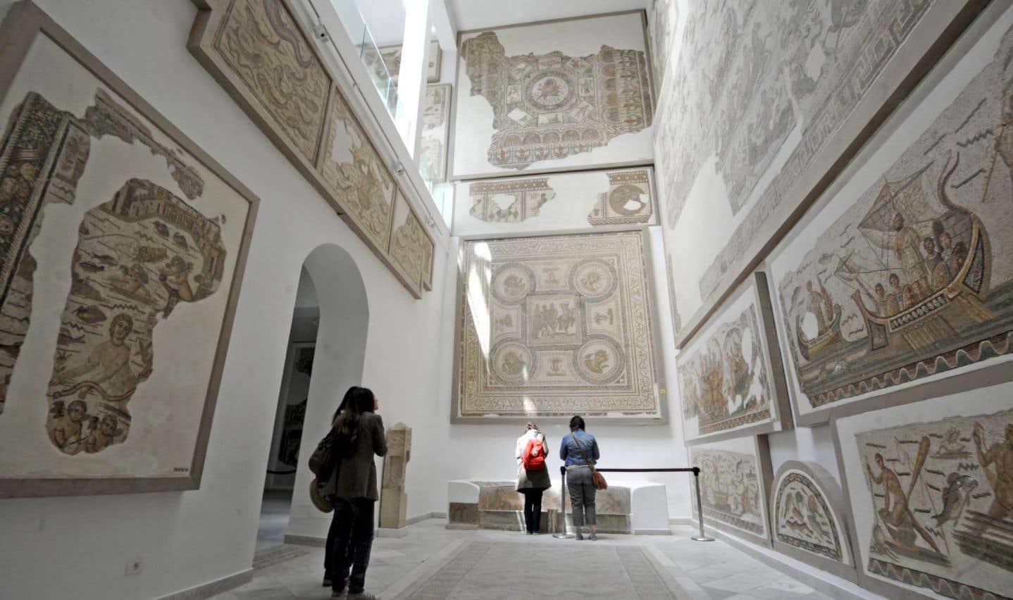 Selon l'archéologue Leïla Ladjimi Sebaï, l'avenir des musées passe par l'archivage virtuel de toutes les œuvres. Ci-dessus: vue d'une salle intérieure du Musée du Bardo.