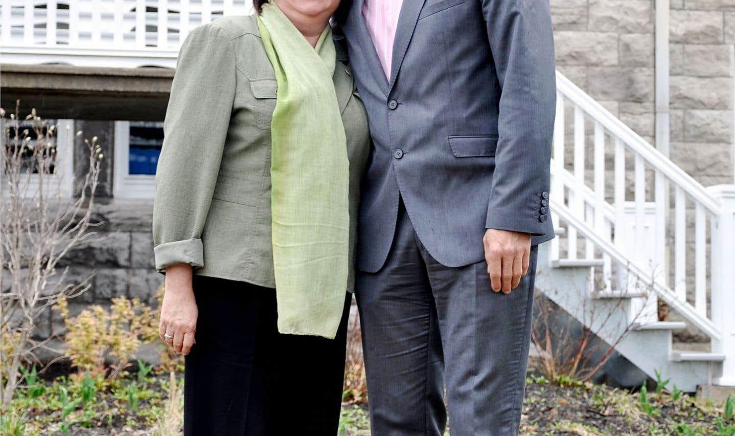 Déborah Bélanger et Martin Damphousse, coprésidents de la Commission des assises 2015