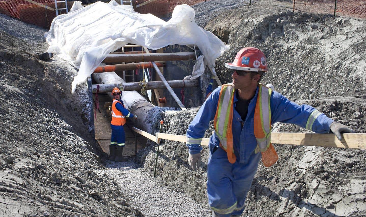 Le projet d'Enbridge prévoit notamment l'inversion du flux de sa canalisation 9B entre North Westover, en Ontario et Montréal, au Québec.