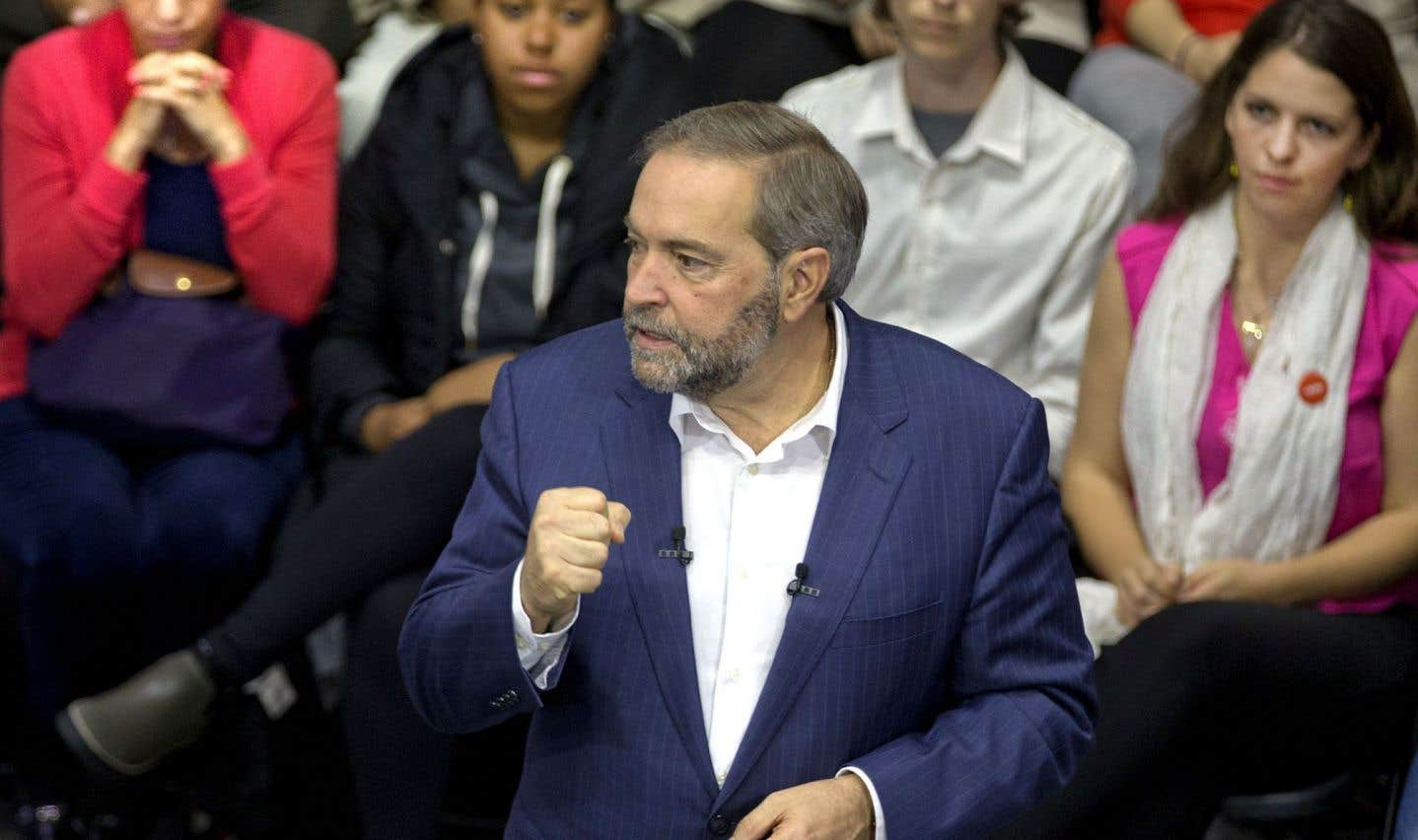 Le NPD ne flirte plus avec des appuis de 50% au Québec