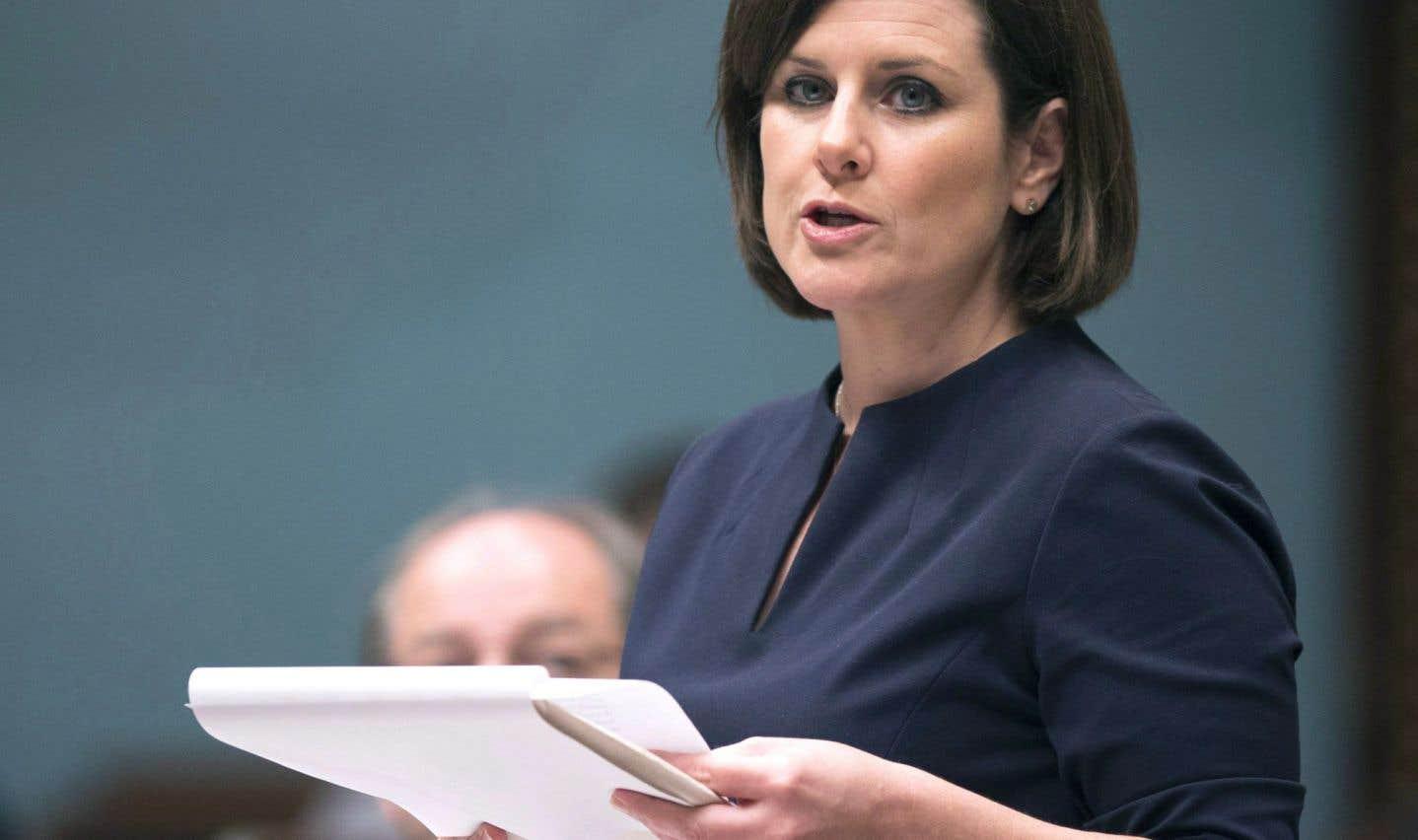 La ministre de la Justice et responsable de l'application des lois professionnelles, Stéphanie Vallée