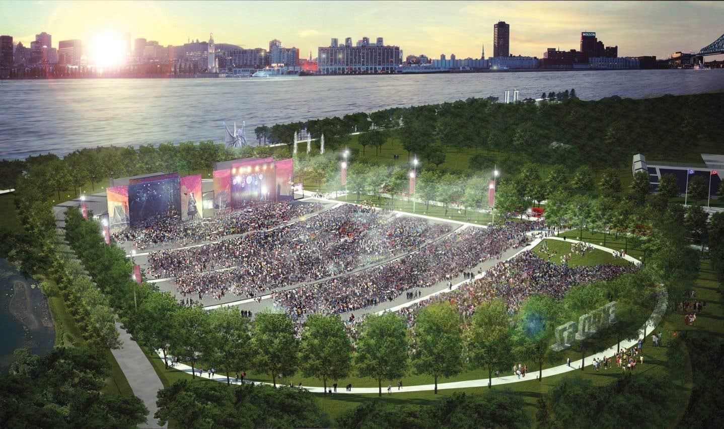 La Société du parc a annoncé un vaste projet de réaménagement du parc Jean-Drapeau, dont un amphithéâtre de 65000 places.