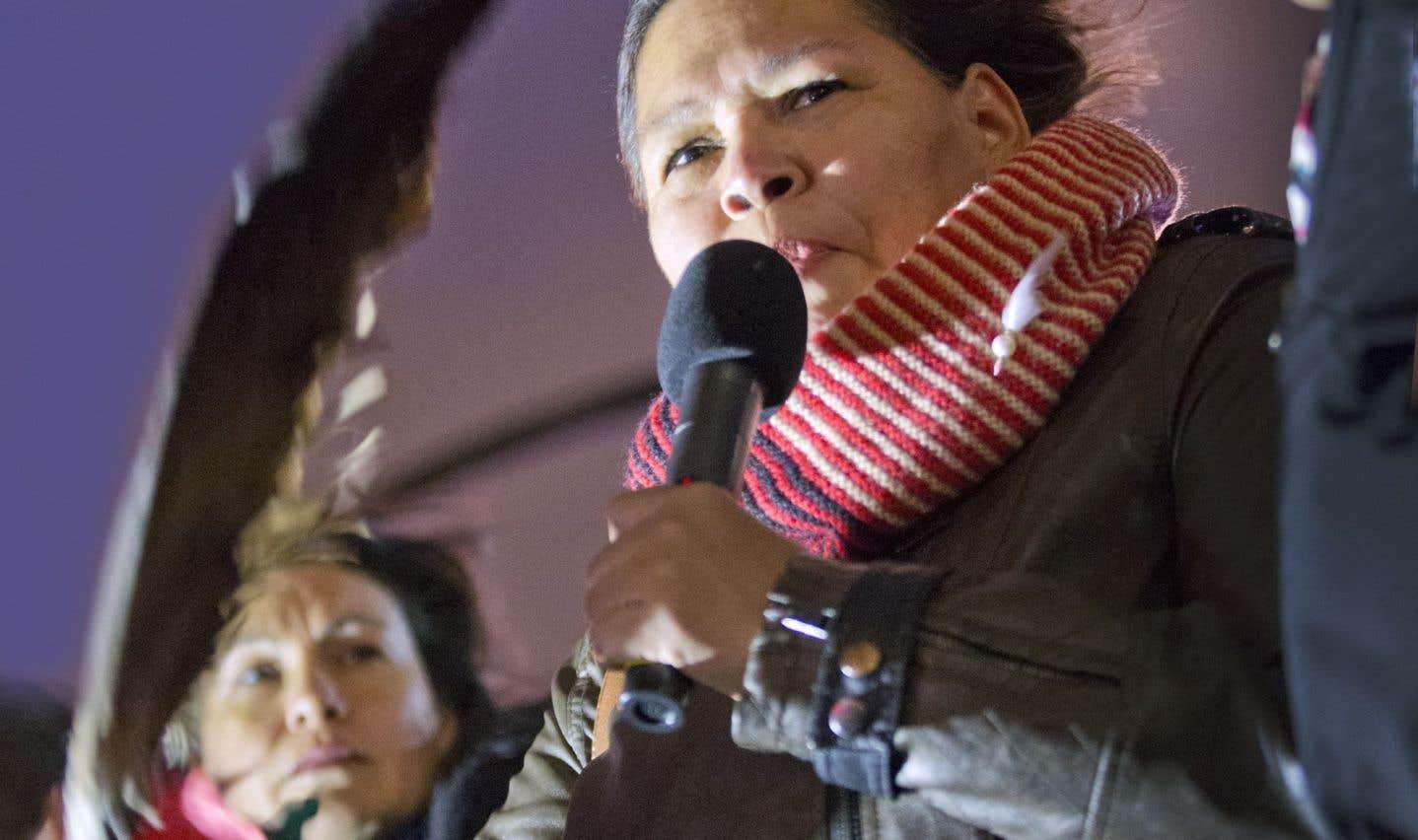 Viviane Michel, de Femmes autochtones du Québec, a dit espérer que cette vigile était la dernière.