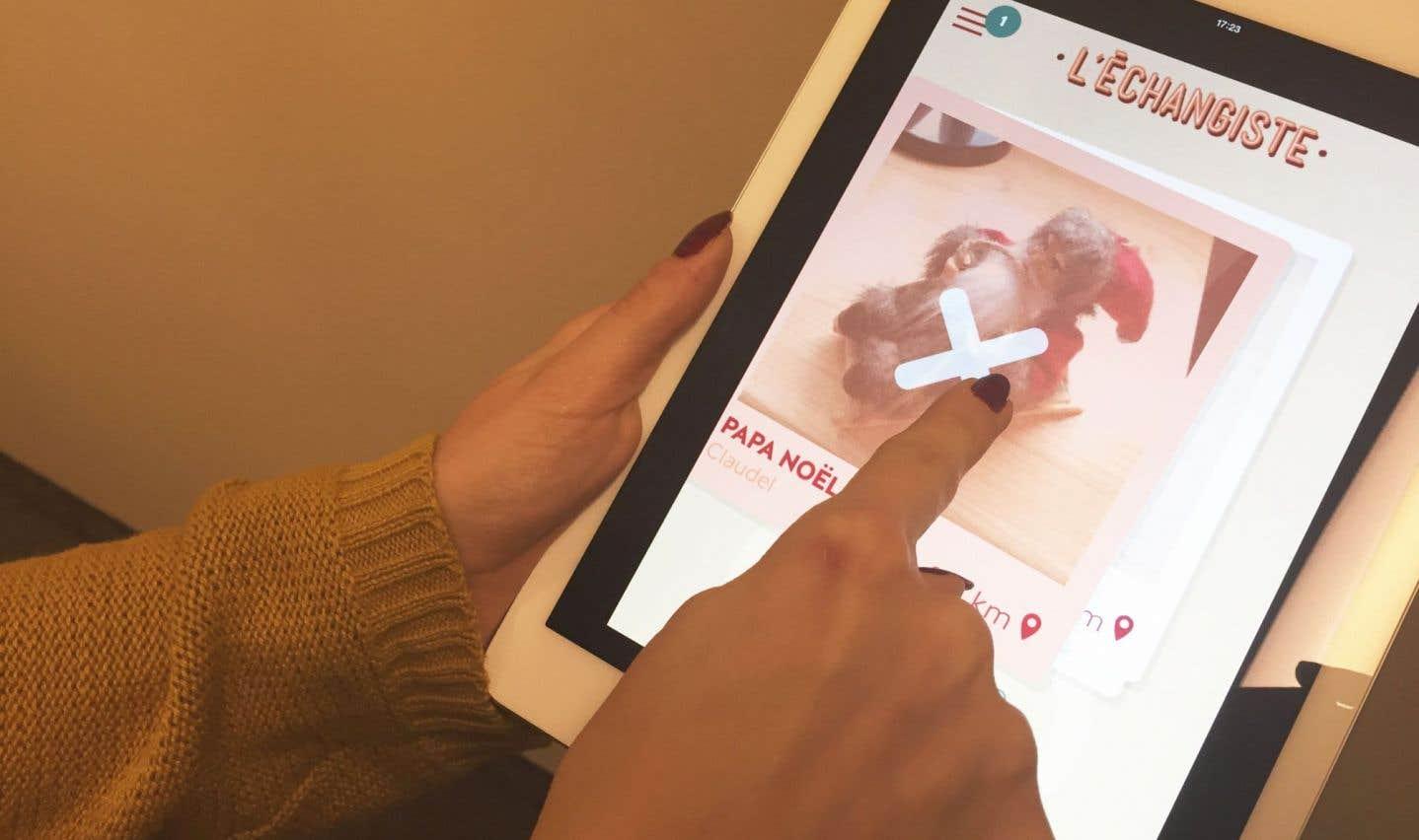 L'échangiste est une application qui permet d'échanger des cadeaux de Noël.