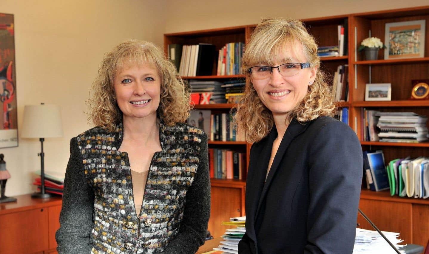 Louise Béliveau, vice-rectrice aux affaires étudiantes et aux études, aux côtés de Chantal Pharand, vice-rectrice adjointe aux affaires étudiantes et à la réussite