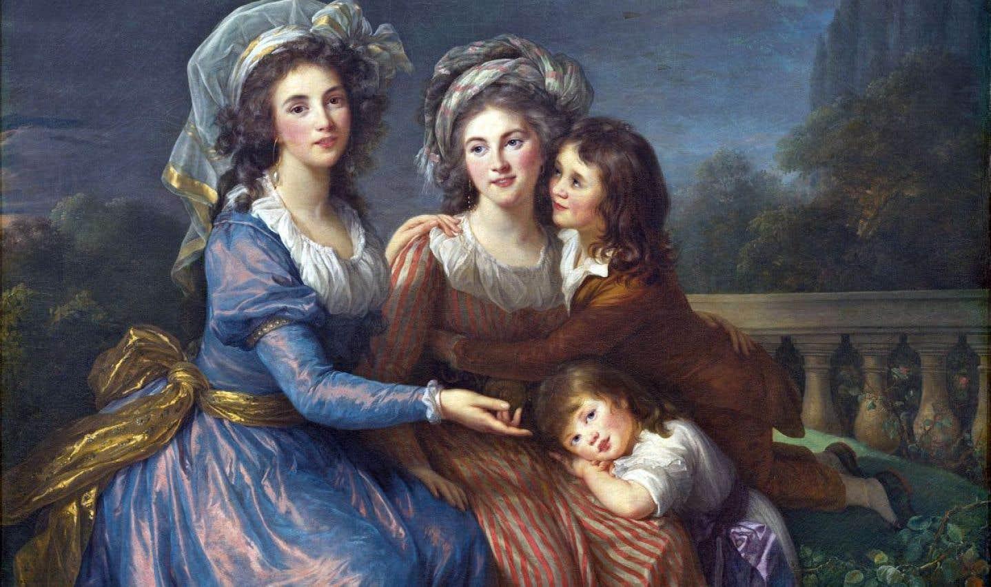 «La marquise de Pezay et la marquise de Rougé avec ses deux fils» (1787) de Élisabeth Louise Vigée Le Brun