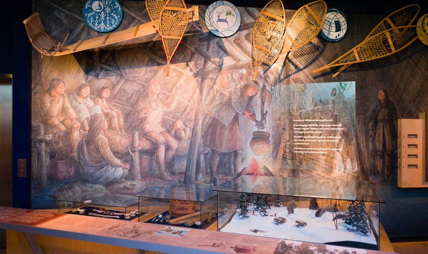 Vue de l'exposition permanente «Wôbanaki»