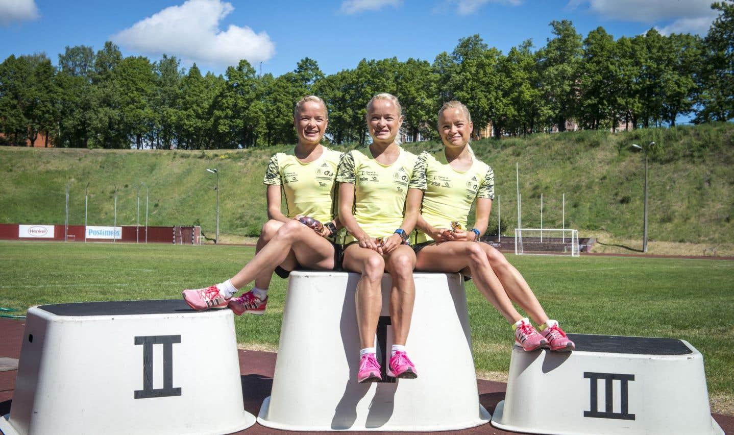 Les triplées estoniennes Leila, Liina et Lily Luik