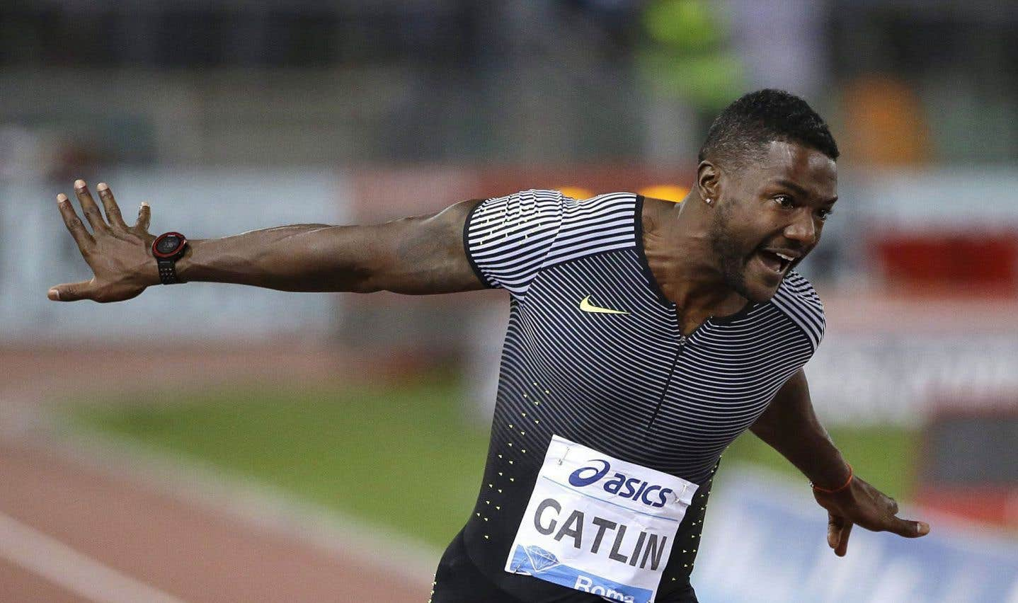 L'athlète américain Justin Gatlin
