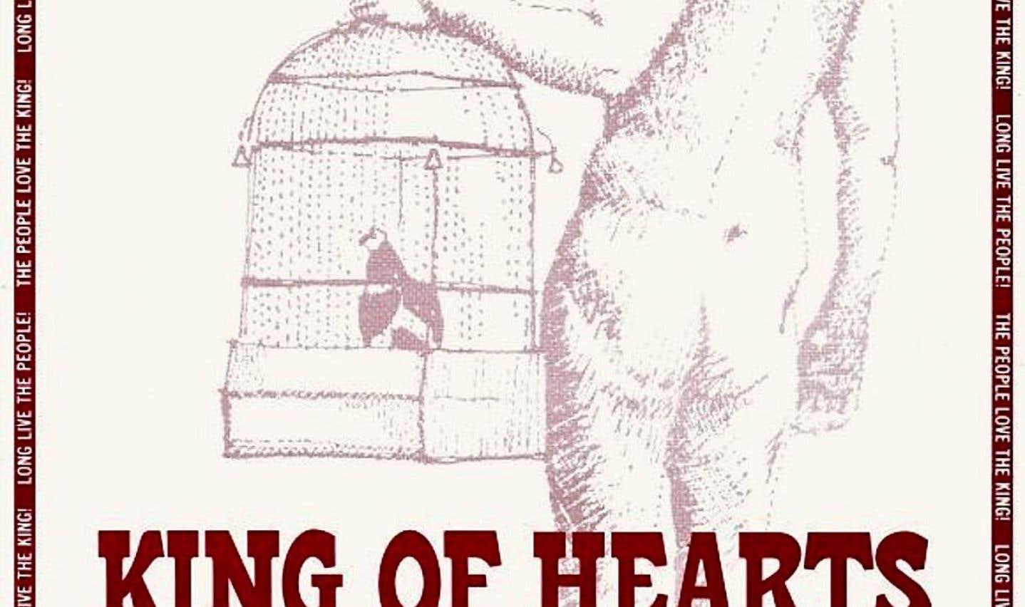 Affiche américaine du film «Le roi de cœur»
