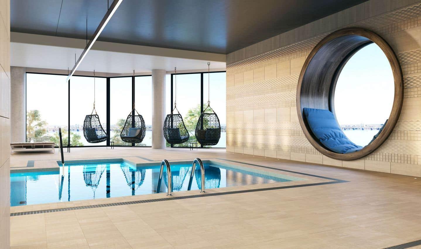 Cette unité avec vue sur le fleuve ainsi que la piscine commune offrent toute la quiétude qu'un propriétaire peut espérer.