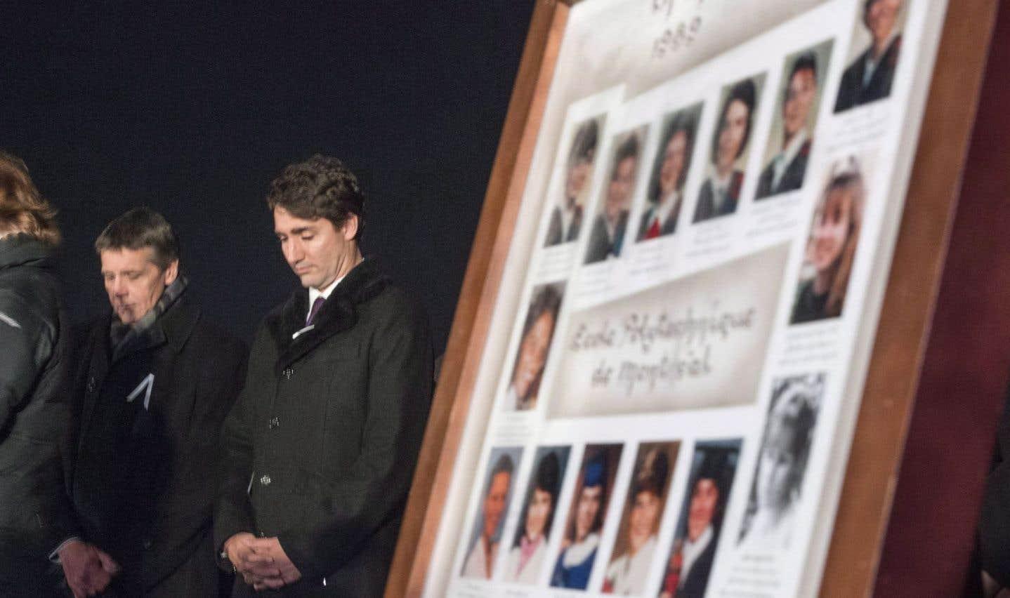 Trudeau commémore le 6 décembre sans parler d'armes à feu