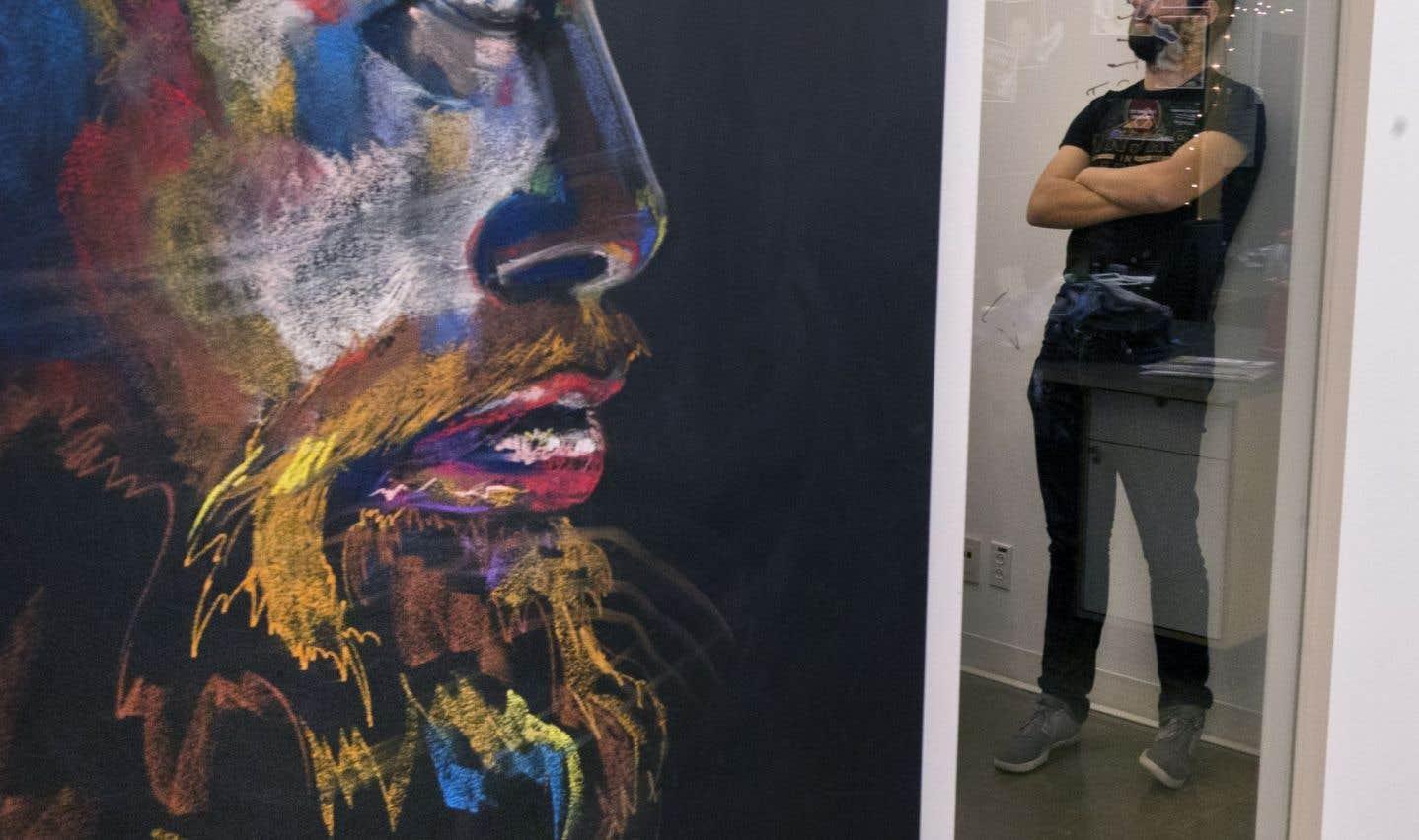 Destinés à accueillir les créations spontanées des employés, de nombreux tableaux noirs parsèment les locaux de la boîte Sid Lee, qui a fait de la créativité sa marque de commerce.