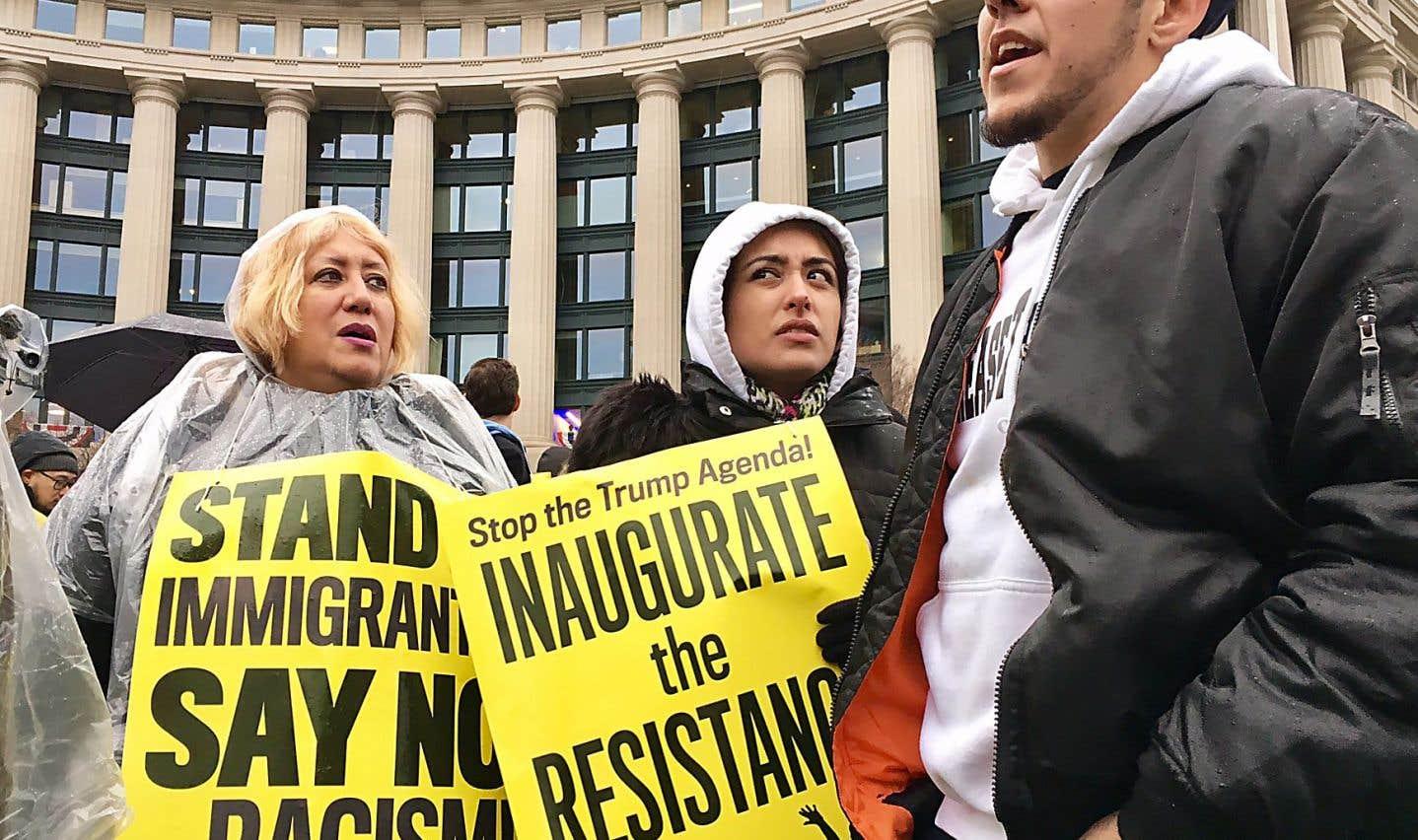 Les anti-Trump laissent éclater leur colère à Washington