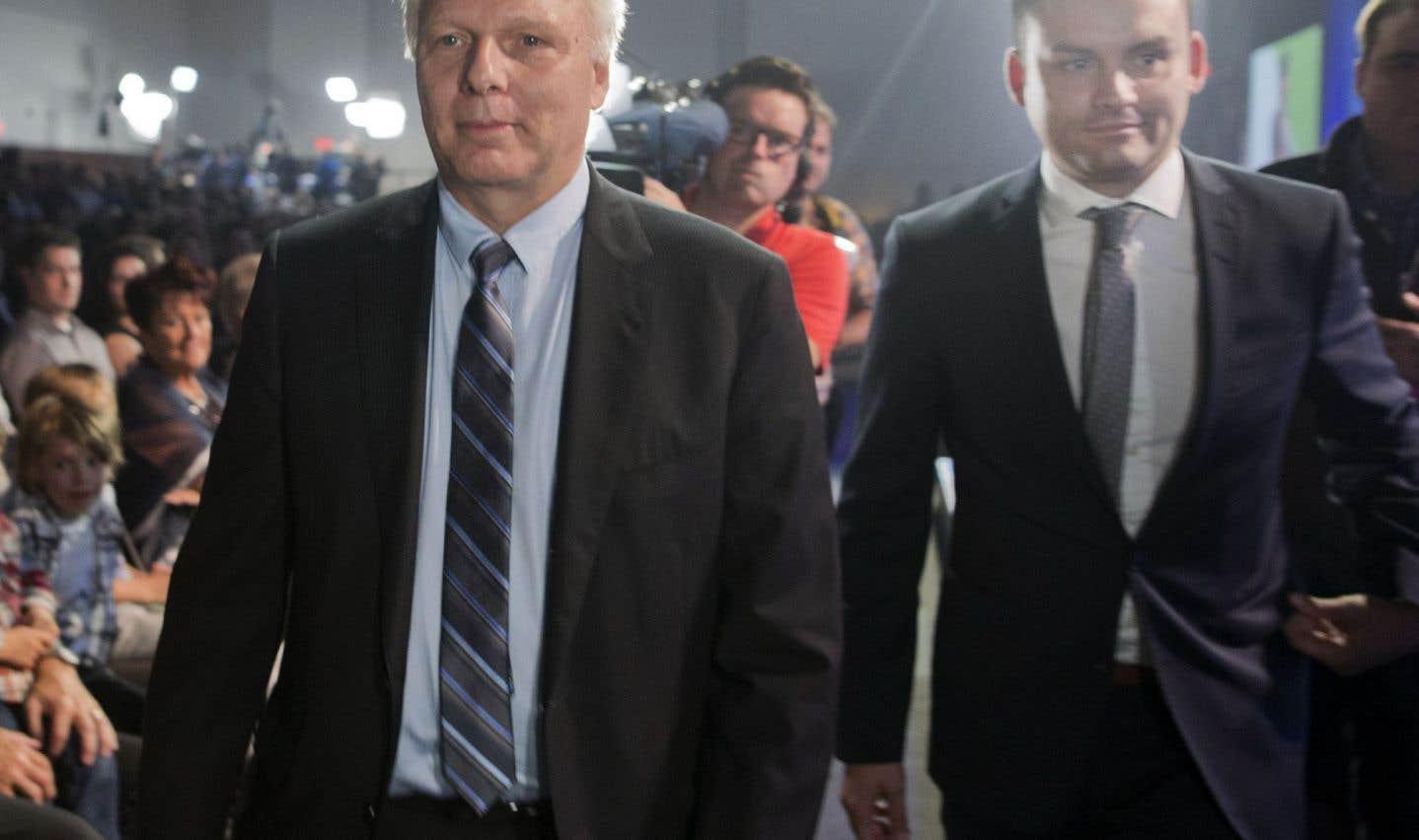 Le chef du Parti québécois, Jean-François Lisée, et Paul St-Pierre Plamondon, à qui il avait confié la tâche d'ausculter les Québécois