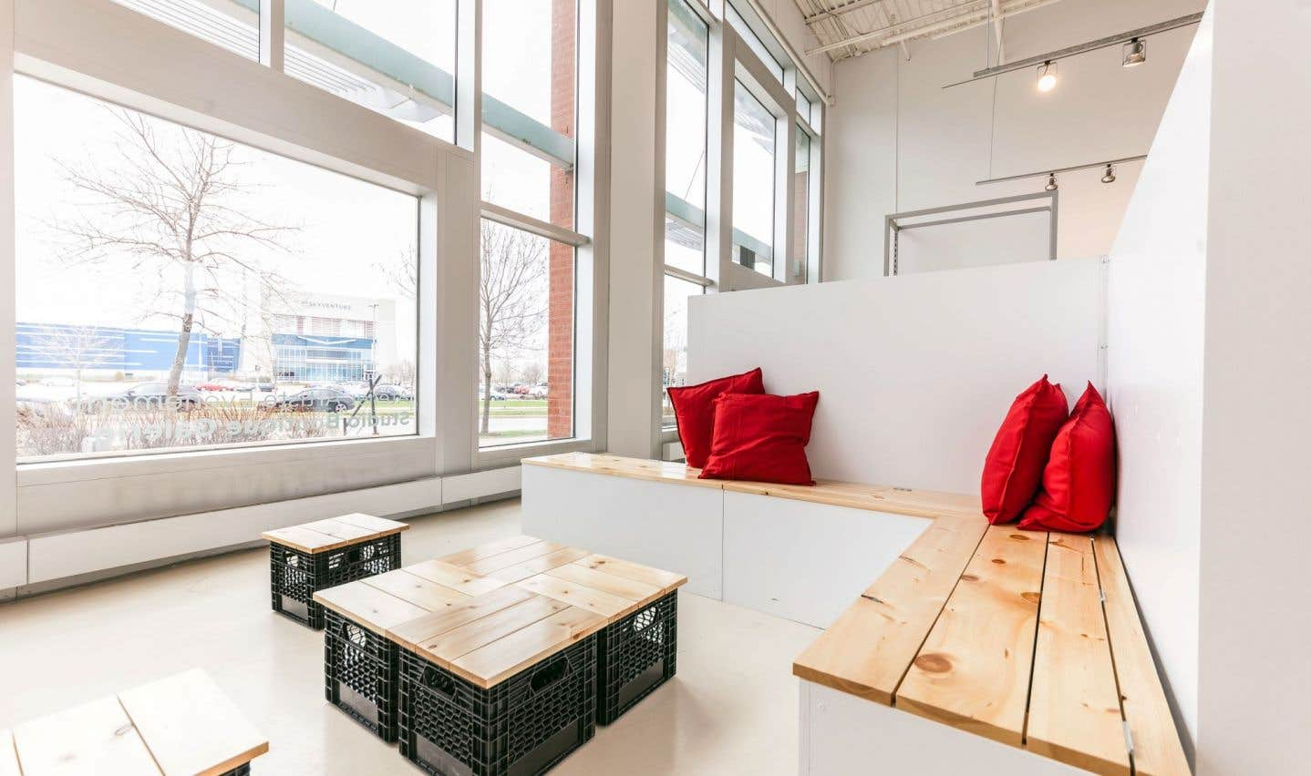 L'Espace éphémère est une salle complètement modulable à la guise des clients.