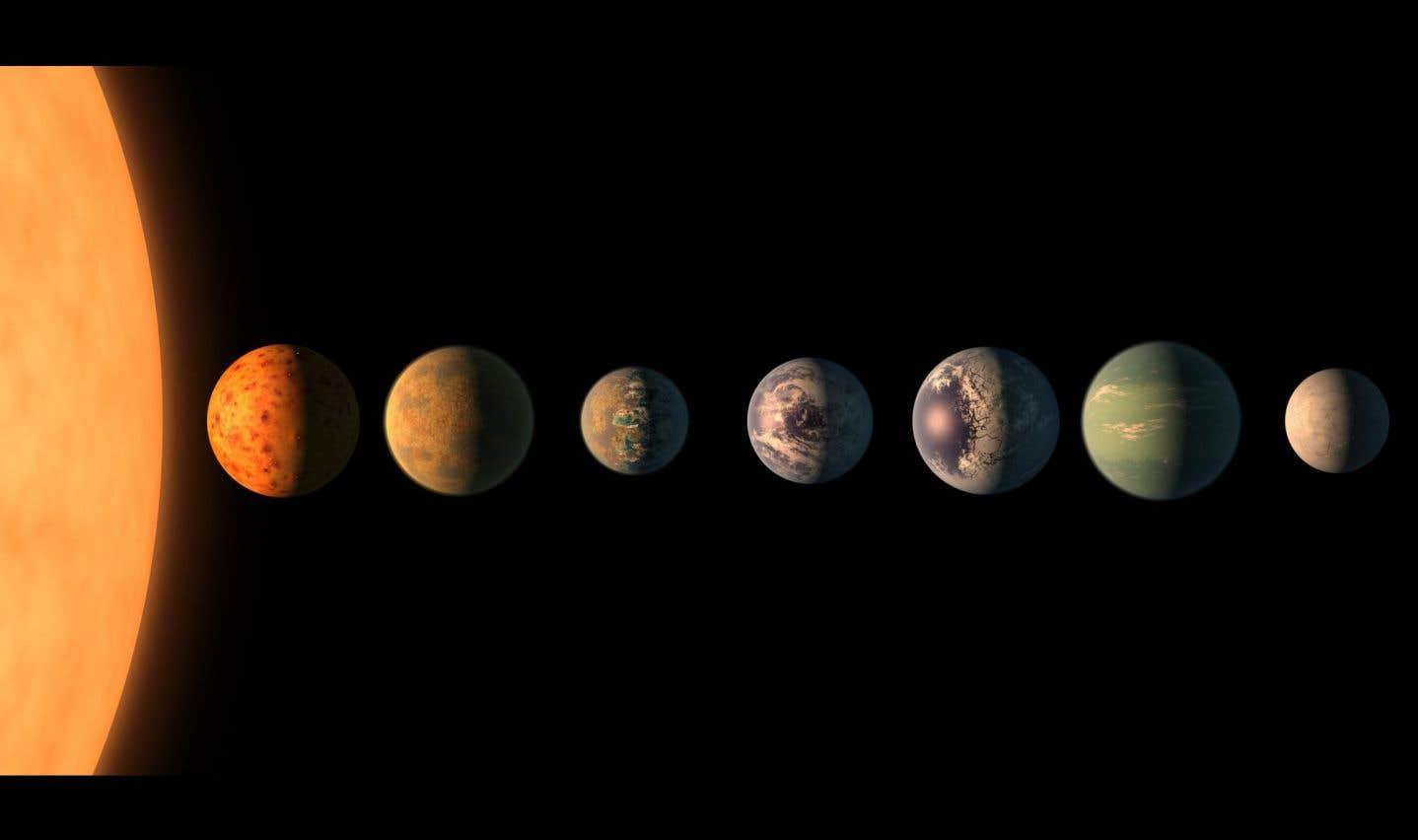 Sept cousines de la Terre découvertes autour d'une même étoile
