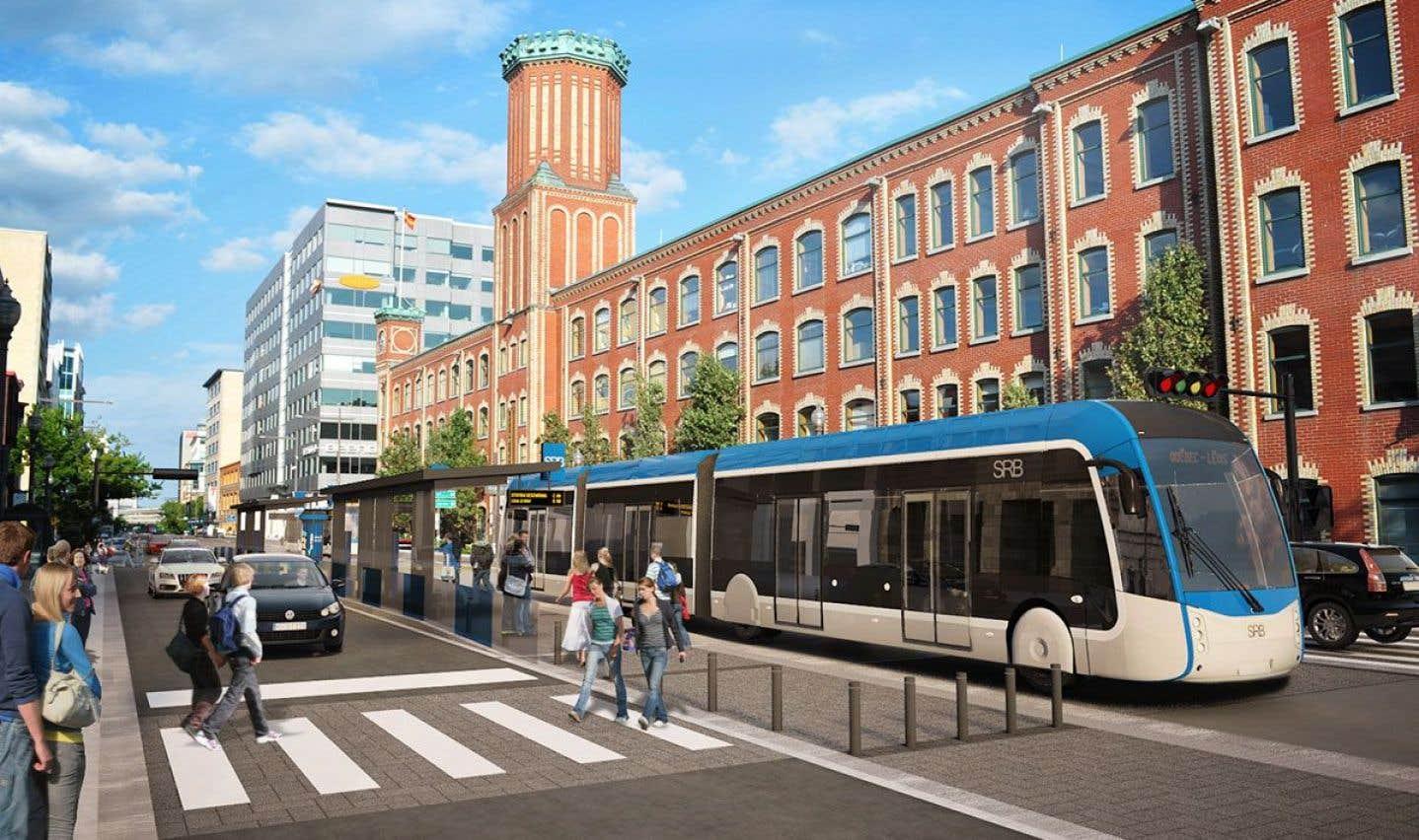 Le Service rapide par bus (SRB) à Québec pourra être complété seulement en 2025.
