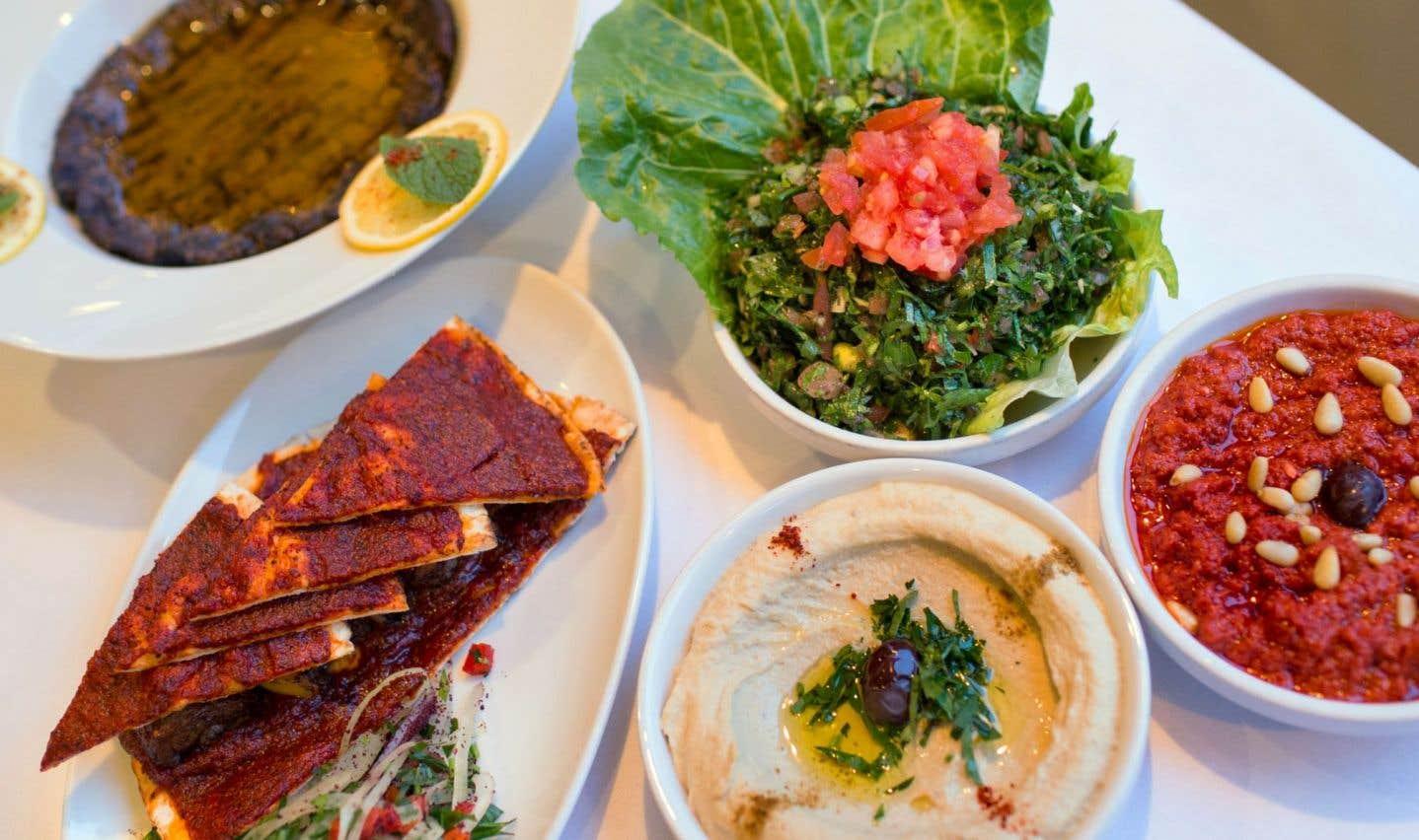 Les belles assiettes moyen-orientales du Alep