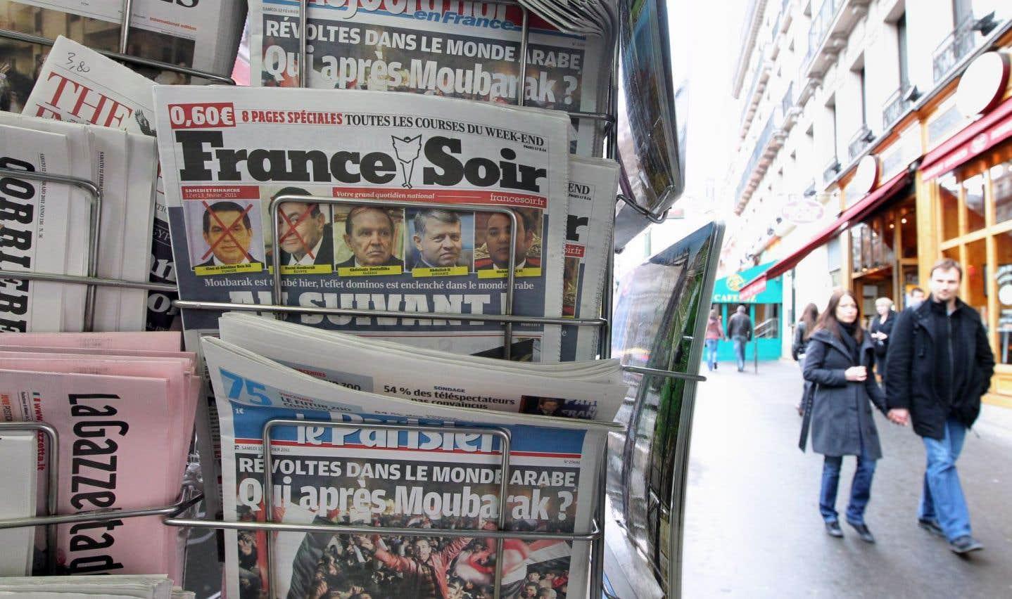 En France, l'État aide les journaux depuis des années.