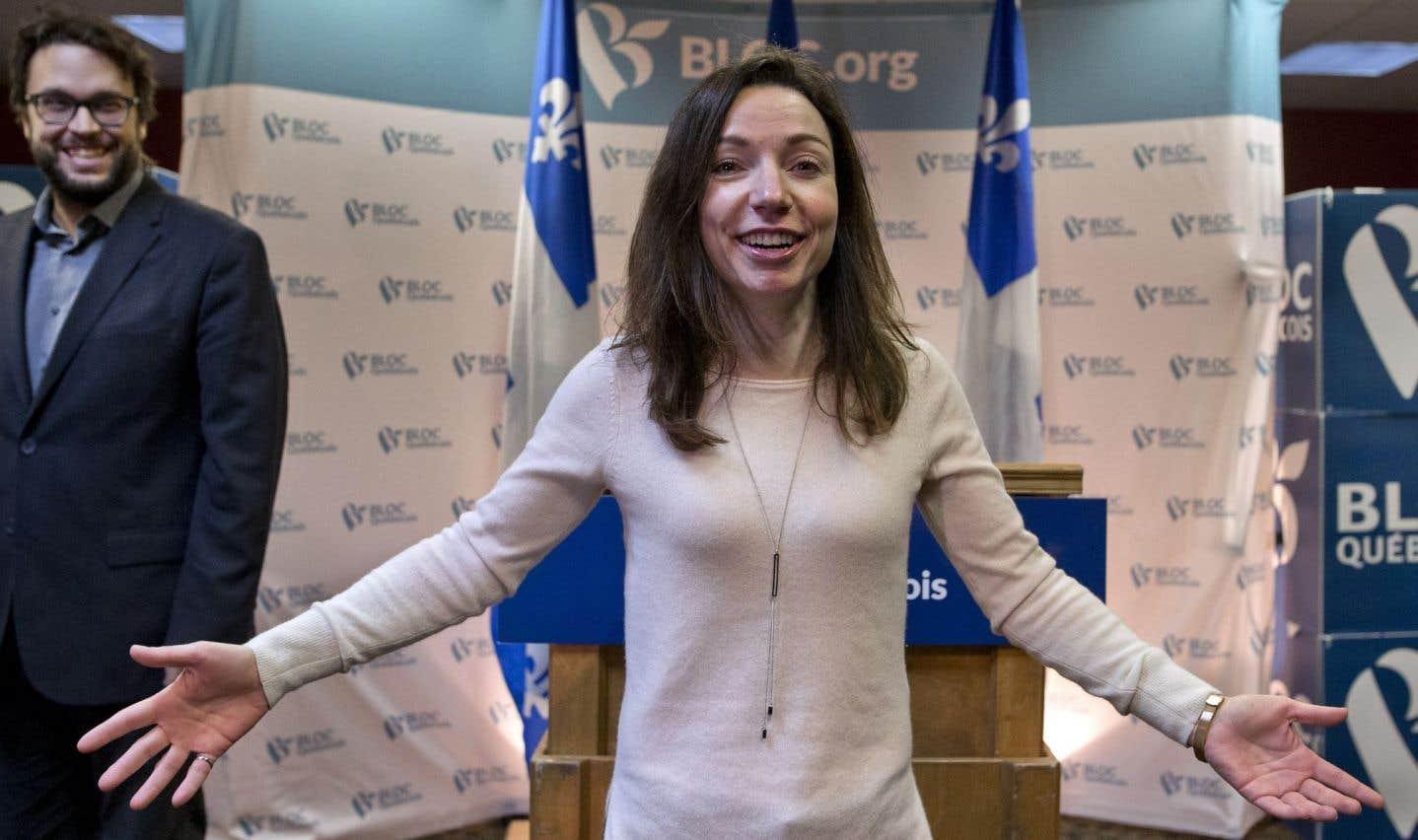 Martine Ouellet officialise sa candidature à la chefferie du Bloc québécois