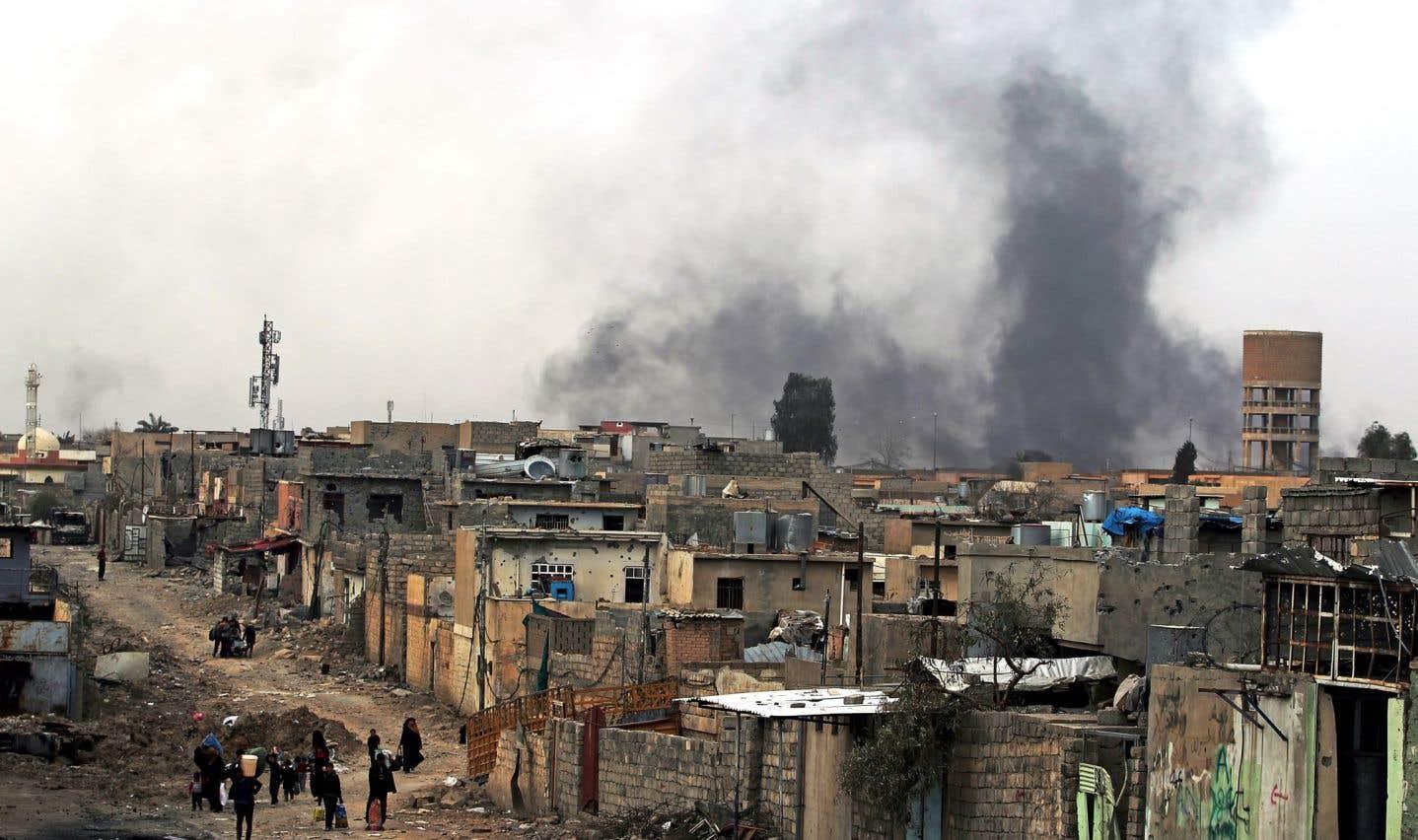 Le groupe EI «pris au piège» à Mossoul