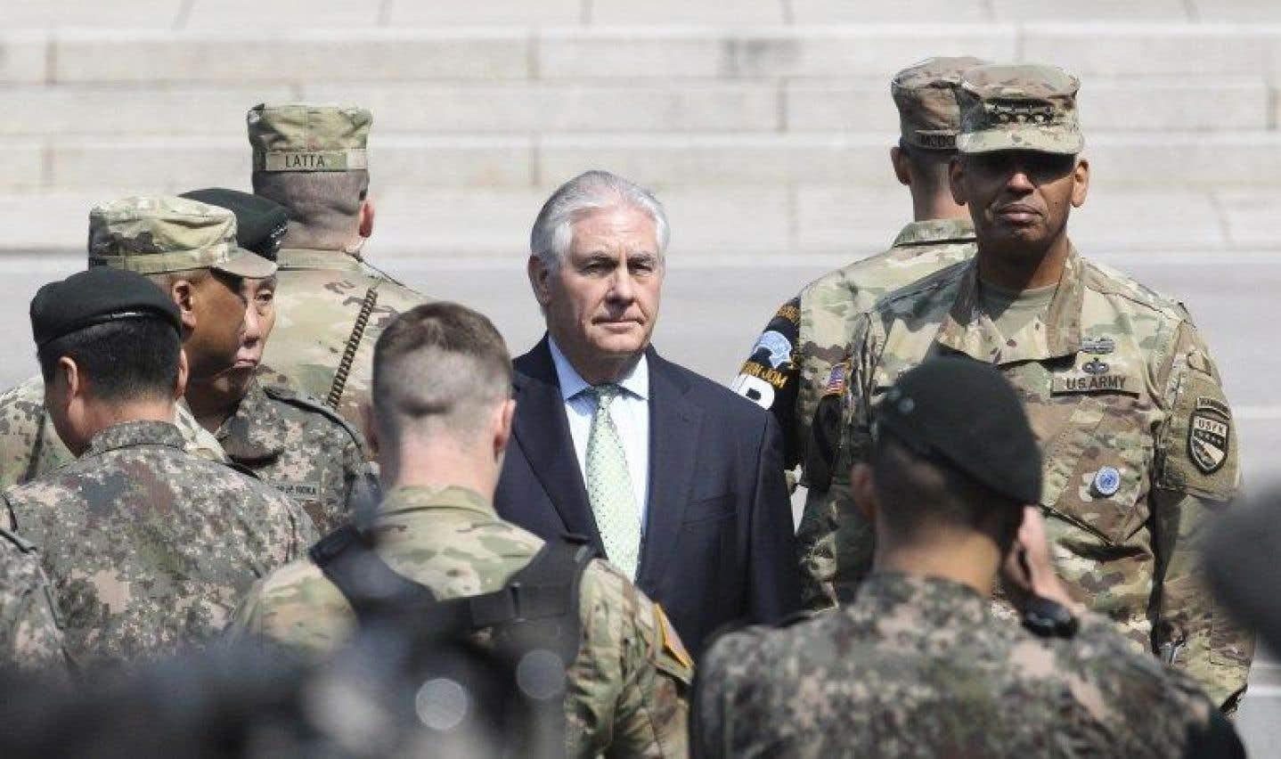 Tillerson n'exclut pas l'action militaire contre Pyongyang
