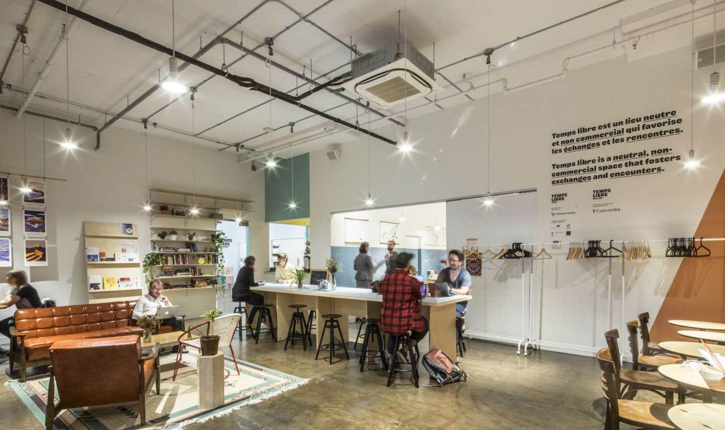Temps libre, espace public et espace partagé de travail, est une des récentes initiatives d'Espaces temps, un incubateur de projets d'innovation sociale et culturelle.