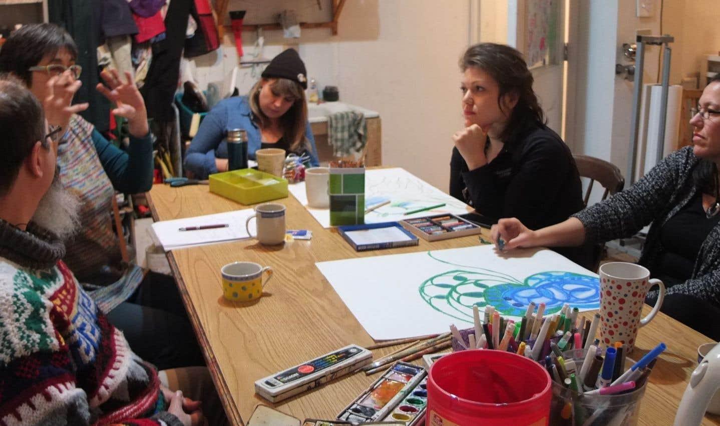 Un atelier scientifique tenu en février à la Ruche d'Art Saint-Henri, ruche où tout a commencé au Québec en 2015.