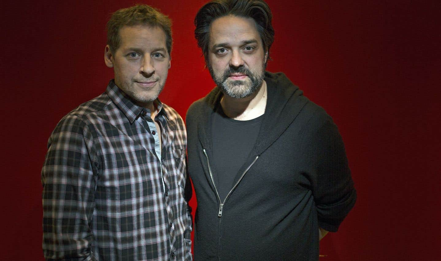 Alexis Durand-Brault (à droite) a offert à Gabriel Sabourin (à gauche) le rôle du narrateur dans «C'est le cœur qui meurt en dernier».
