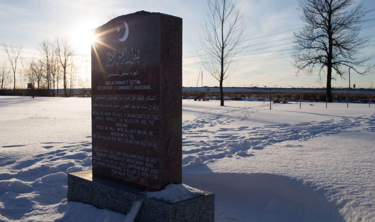 Une section musulmane ouverte dans un cimetière de la région de Québec