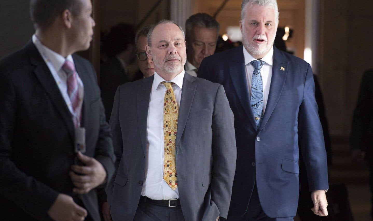 Couillard nie toute allégation d'influence de Marc Bibeau sur son gouvernement