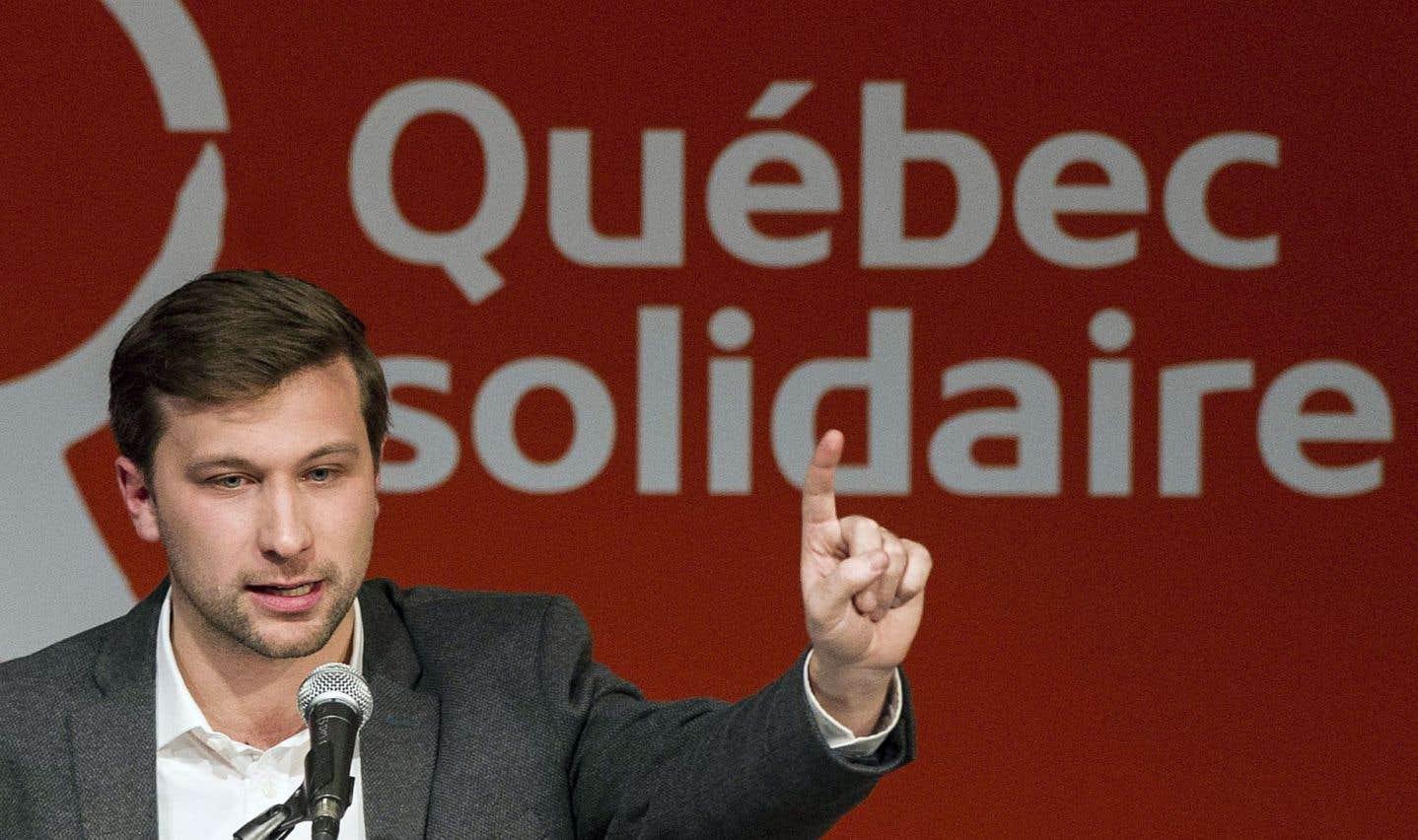 Illusion et division autour de la candidature de Gabriel Nadeau-Dubois