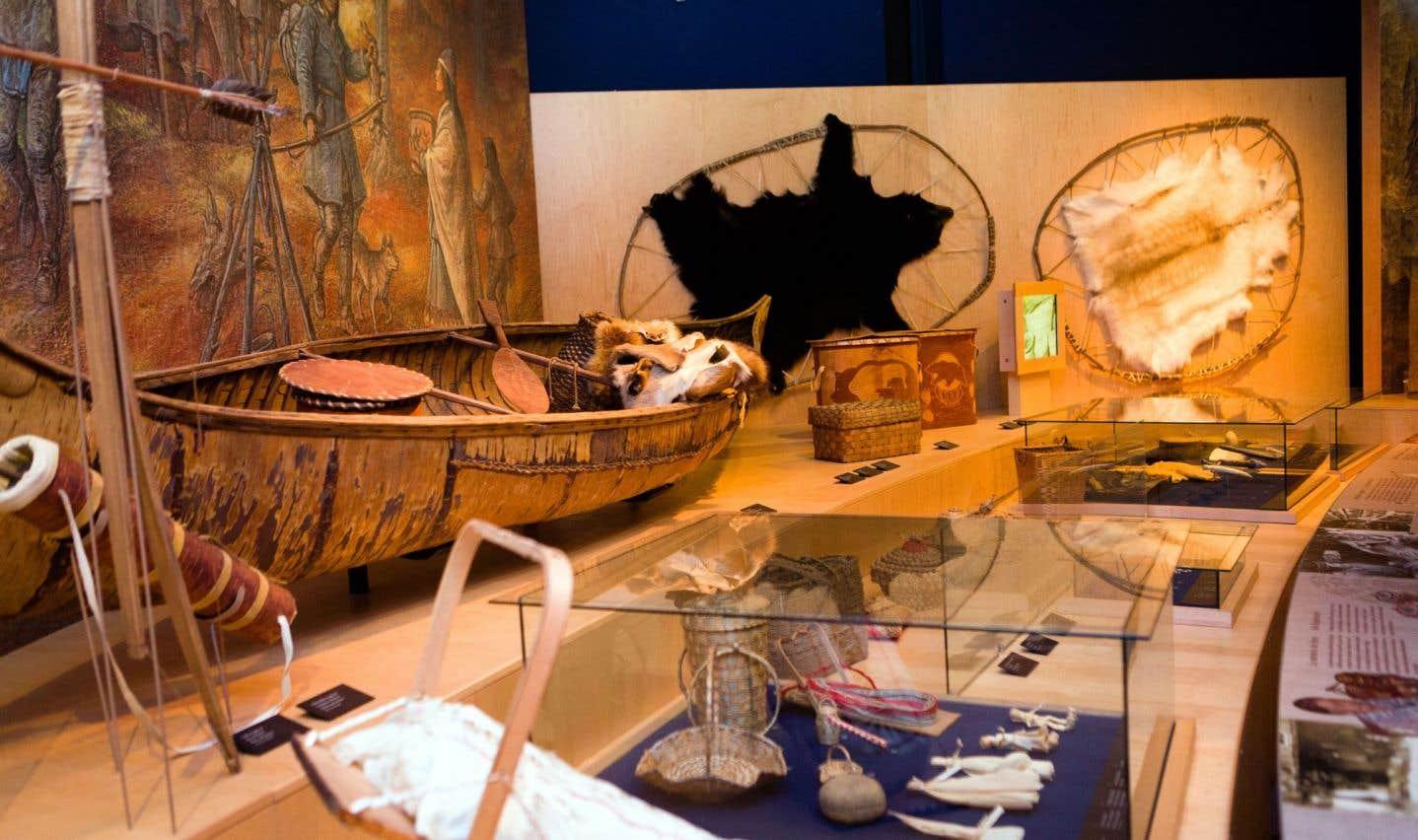 Vue de l'exposition permanente au Musée des Abénakis