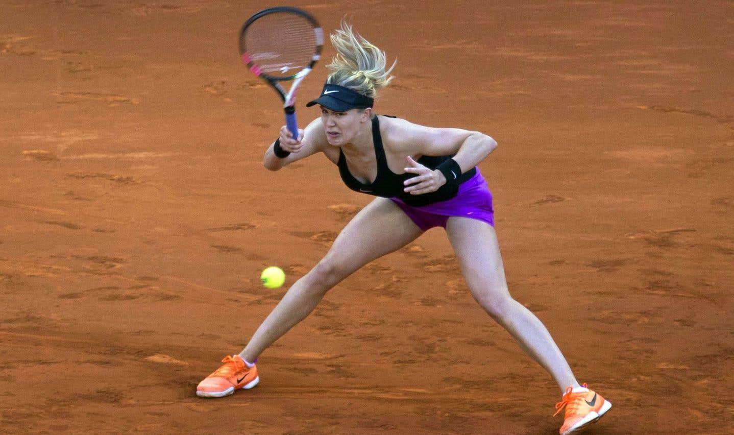 Eugenie Bouchard accède aux quarts de finale du Masters de Madrid